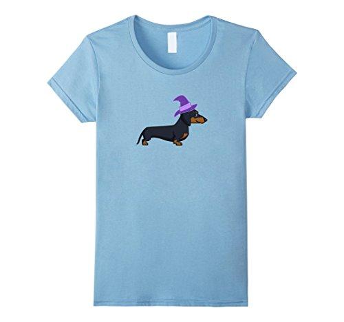 Womens Dachshund Halloween Costume Shirt Small Baby Blue