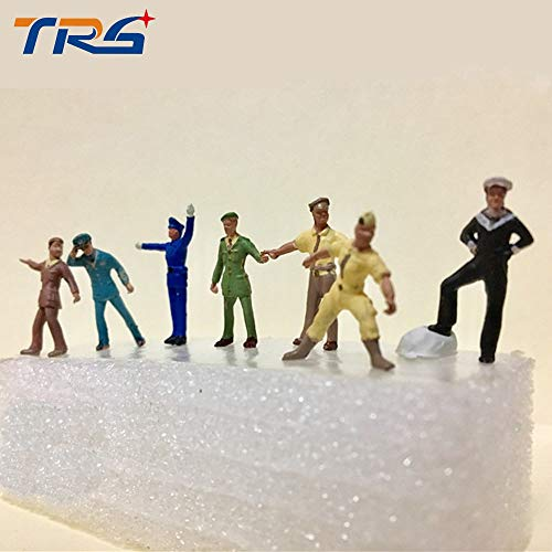 Sala-Ctr - 7pcs/lot HO scale model figure 1:87 model police people traffic solider ornaments for model secene - Scale Ho Police