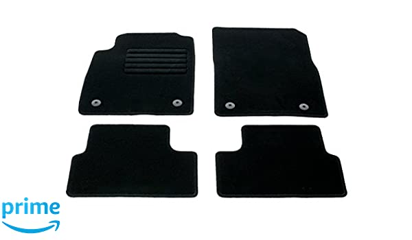 Amazon.es: Fahrzeugmatten - Juego de alfombrillas de terciopelo, color negro