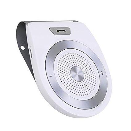 Musica Aigoss Kit Vivavoce Bluetooth per Auto 4.1 con Controllo Vocale Altoparlante per cellulari Funziona con i GPS ACCENSIONE AUTOMATICA da Sensore di Prossimit/à
