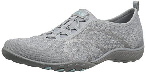 Skechers Sport Women's Breathe Easy Fortune Fashion Sneaker,Grey Knit,9 M US