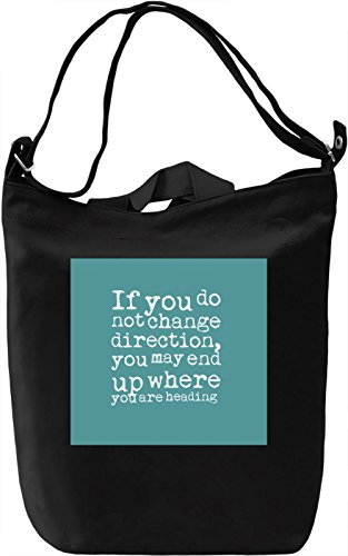 Change Direction Borsa Giornaliera Canvas Canvas Day Bag| 100% Premium Cotton Canvas| DTG Printing|