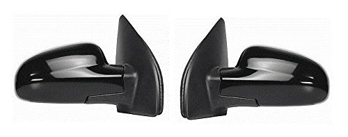 Fits 04 - 08 AVEO Mirror Power with heat Smooth Black 4 door Sedan Only Pair Set NEW Chevy 4 Door Sedan