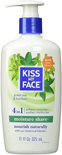 Kiss My Face Moisture Shave, Green Tea & Bamboo 11 oz (Pack of 4) by Kiss My Face