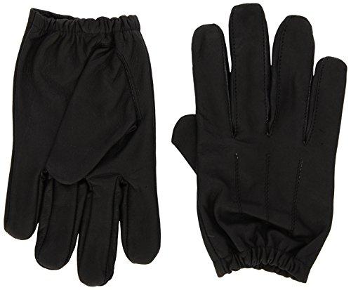 (Shaf International Men's Deerskin Short Wristed Driving Gloves (Black, X-Small))