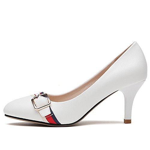 Scarpe Nero Donna 6 Sposa da Party da Tacchi Moda Corte 7cm White Alti UK Nightclub 5 39 Scarpe Sexy Lavoro Donna EU AB0qwq