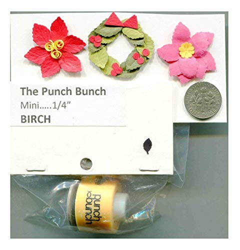 Mini Birch Leaf Shape Paper Punches Many Styles 2 Choose from Quilling-Scrapbook-Card