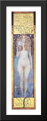 Nuda Veritas 12x40 Large Black Wood Framed Print Art by Gustav Klimt