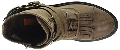 Dog Brown para Botas Mujer Rocket Marrón Brown de Lacey Motorista dqRHX78w