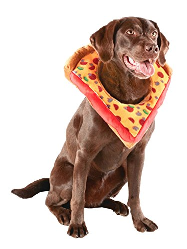 Supreme Pizza Dog Costume Plush Halloween Pet Outfit S/M -