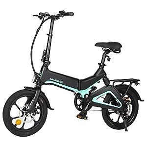 41vaXKRYI7L. SS300 VOLUEX SAMEBIKE Bicicletta Elettrica Pieghevole Smart Ciclomotore con Motore 250W 25 Km/h Bicicletta da 16 Pollici per Adulti E Adolescenti