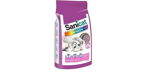 Sanicat Rainbow Color Rosa, Arena de Gato Absorbente - 20L: Amazon.es: Productos para mascotas