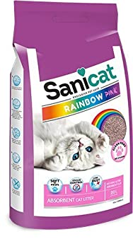 Sanicat Rainbow Color Rosa, Arena de Gato Absorbente - 20L: Amazon.es: Productos para mascotas