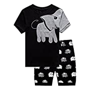 Tecrok Little Boys Pajamas 2 Piece Short PJS Sets Toddler Cotton Sleepwears Summer Kids Clothes For Age 1-7 Years