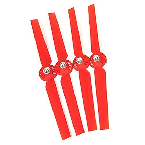 Emorefun 2 Pairs Propellers Rotor Blade Sets A and B Red for YUNEEC Typhoon G Q500 Q500+ Q500 4K RC Quadcopter Drone
