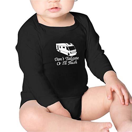(Don't Tailgate Or I'll Flush Motorhome Unisex Baby Long Sleeve Bodysuit Black)
