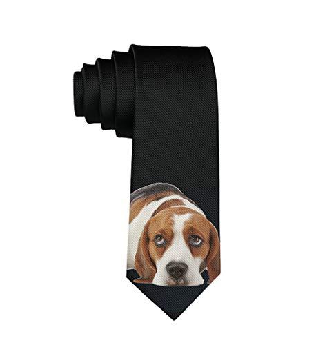 Men's Tie Fashion Neckties Basset Hound Dog Necktie for Wedding Party Meeting Outfit]()