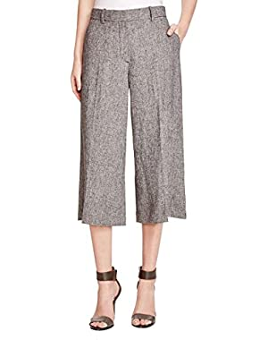 Theory Womens Halientra Linen Crepe Heathered Culottes