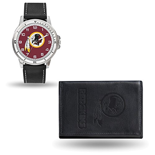(NFL Washington Redskins Leather Watch/Wallet Set by Rico)