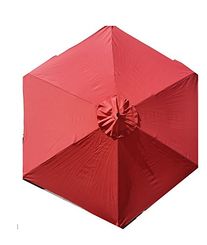 Sun-Ray 9′ Solar Lighted Market Patio Umbrella, Burnt Ochre Review
