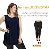 LARACE Women Solid Sleeveless Tunic for Leggings
