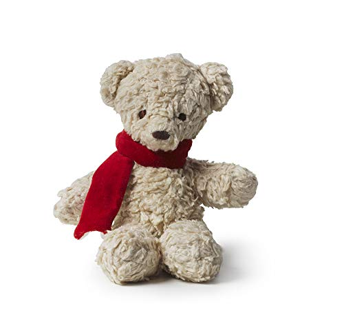 Bears For Humanity Organic Baby Sherpa Bear Plush with with Scarf Animal Toy - Cream, 12