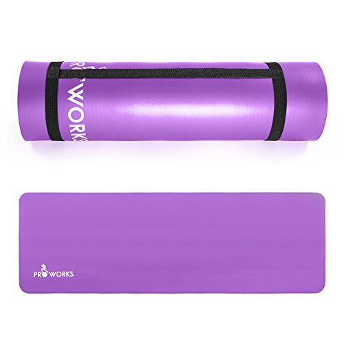 Proworks-Large-Padded-Yoga-Mat-with-Carry-Handle-for-Pilates-Exercise-Gymnastics–Purple