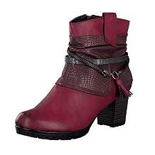 Rieker Women Ankle Boots red, (wine/vinaccia/antrac) 98589-35