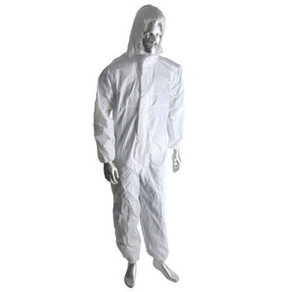 RS Pro Cat 1 White Coverall; L; pk 10, Pack of 2