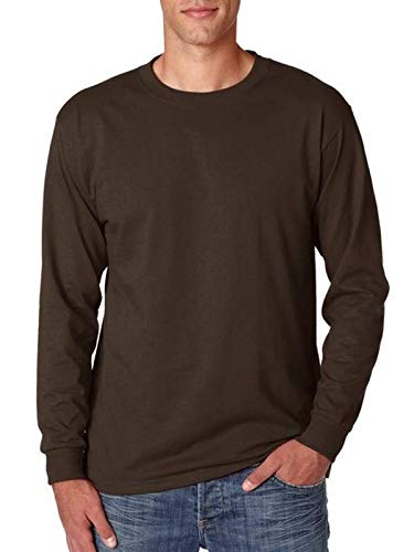 (Jerzees Men's Heavyweight Blend 50/50 Long Sleeve T-Shirt (Chocolate, XXX-Large) )