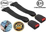 2 Pack Ritzybiz Car Seat Belt Extender - E Mark Safety Certification - Seatbelt Extension