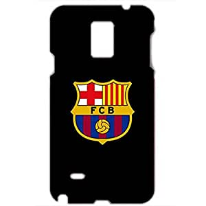 FC Barcelona Black Background Logo Hard Protective Phone Case for Samsung Galaxy Note 4