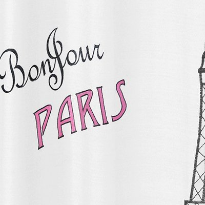 Sweet Jojo Designs Paris Kids Bathroom Fabric Bath Shower Curtain