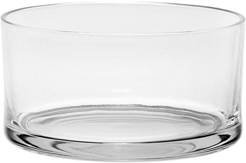 Serving Glass - #1 High Quality Large Glass Round Salad Bowl - Serving Dish - 120 Oz. Clear