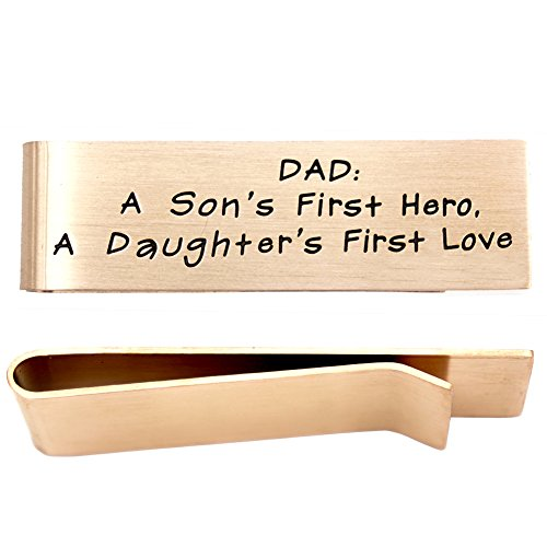 O.RIYA Stainless Steel Money Clip For Father's Day jewelry, Gift For Father, Son's Hero, Daughter's Love
