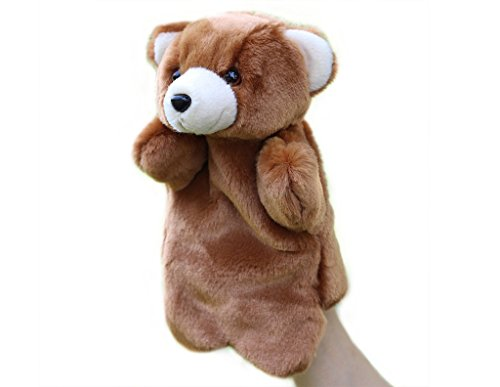 Bear Plush Hand Puppet - RIY Hand Puppet - Zoo Friends Animals Educational Puppets, Bear