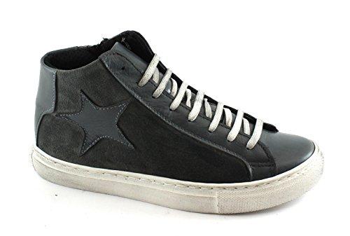 Espadrilles Lacets Pierre Sport Milieu De Divine Grigio Folie Chaussures Star Gris q0FaOwZc