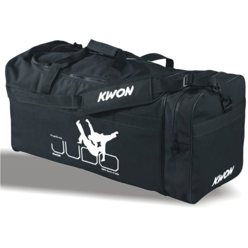 KWON® Sporttasche groß Large L JUDO, Tasche, Trainingstasche, Taschen Bag, schwarz, Trainingstaschen große Sporttaschen mit Schrift Aufschrift Druck Schriftzug Kampfsport Budo Judotasche Judotaschen