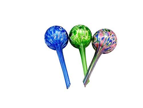 (Aqua Globe Mini - 3 Pack - Decorative Hand-Blown Glass Small Plant Watering Bulbs)
