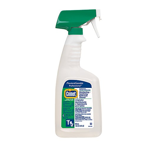 Hospital Grade Bulk Disinfecting Bathroom Sanitizer by Comet Professional, Multi-Purpose Spray Cleaner Wipes up Pathogens, for Commercial Use, 32 oz. (Case of 6)