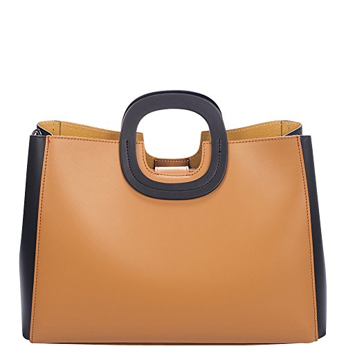 Markese Top Handle Tote (Cognac Summer) by Markese