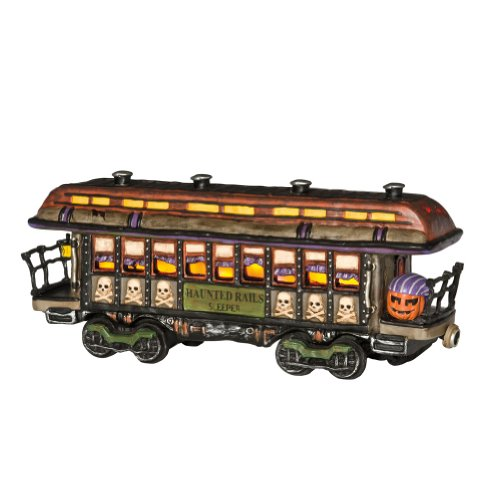 - Department 56 Snow Village Halloween 10th Anniversary Haunted Rails Passenger Car Lit House