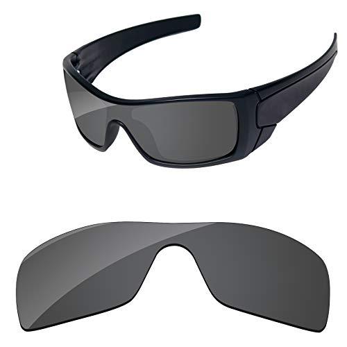 PapaViva Lenses Replacement for Oakley Batwolf Black Grey