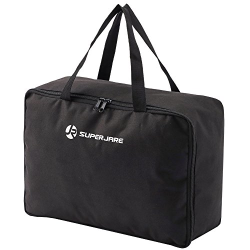 5df0fc42d0e1 SUPERJARE Cargo Bag with Protective Mat, Car Top Carrier for Roof ...