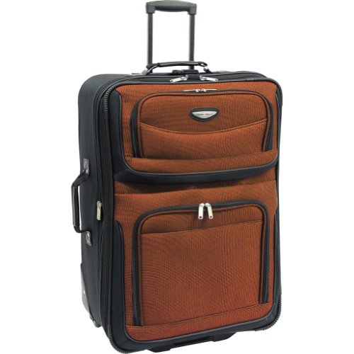 Traveler's Choice Amsterdam 29 in. Expandable Rolling Upright (Orange), Bags Central