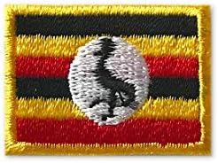 ウガンダ 国旗 / アイロン ワッペン (ミニ 約24mmx33mm)