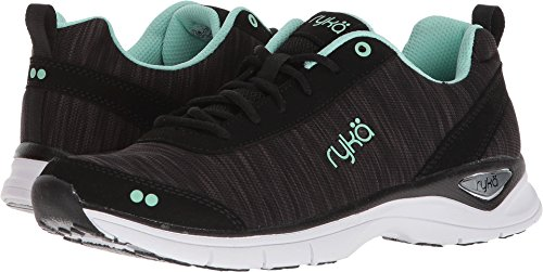 Ryka Women's Rayne Walking Shoe, Black/Mint, 9 M (Discount Warehouse)