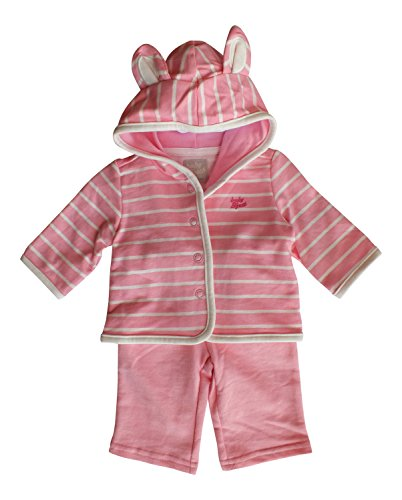 Baby B'gosh 2 Piece Pink Cardigan Set with 3-D Ears (9 Months)