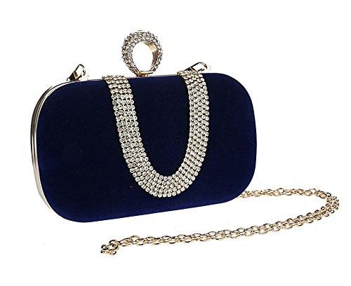 Celebration Blue Navy Wedding for Clutch Evening Handbag Party Pulama gzOSqS