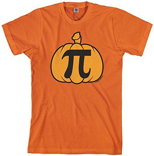 Threadrock Men's Pumpkin Pi T-shirt M Orange (Halloween Tshirt)